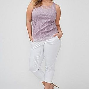 Lane Bryant Pleated Lace Tank Top